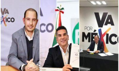 """PRI, PAN y PRD presentan alianza """"Va por México"""", buscan mayoría en el Congreso"""