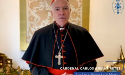 Manda cardenal Aguiar Retes mensaje de esperanza en esta Navidad