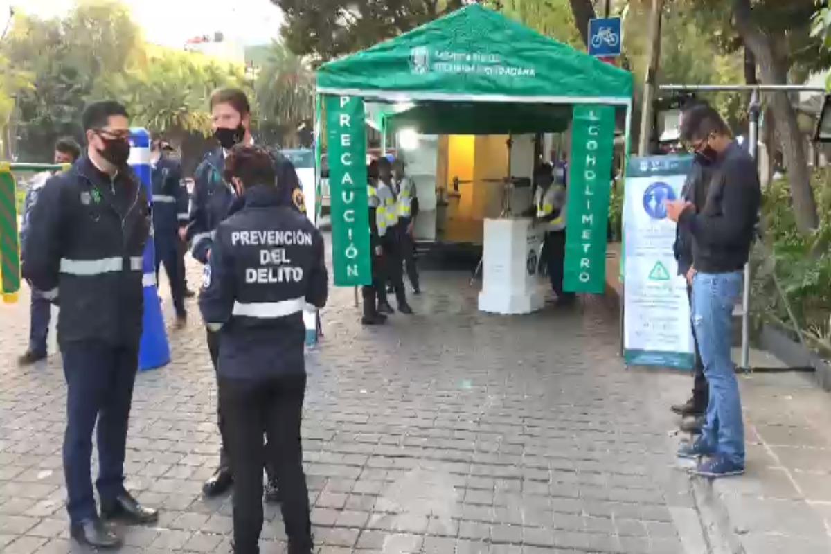 "Inicia operativo ""Conduce sin Alcohol"" decembrino en CDMX"
