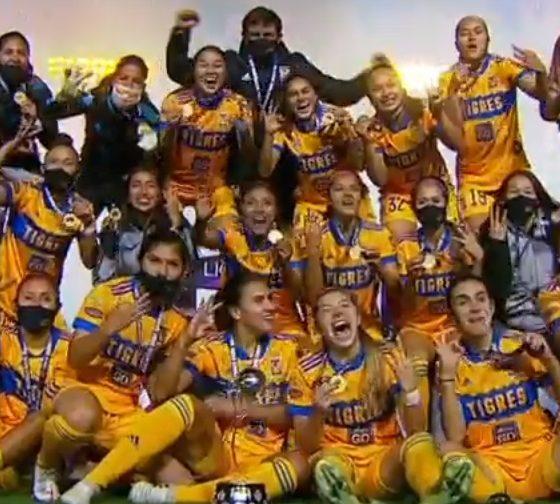 Tigres, campeón de la Liga MX. Foto: Captura de Pantalla