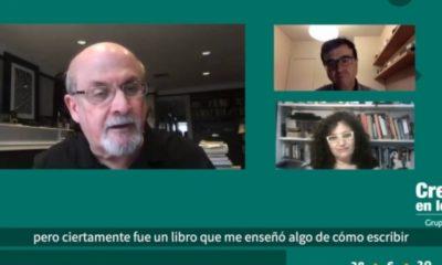 Javier Cercas y Salman Rushdie