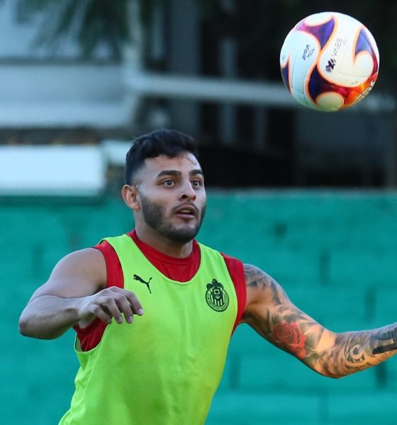 Alexis Vega, duda para jugar ante Puebla. Foto: Twitter Chivas