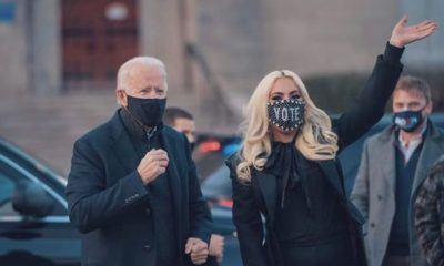 Lady Gaga y Joe Biden