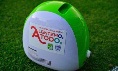 Dona Grupo Pachuca concentrador de oxígeno. Foto: Twitter León
