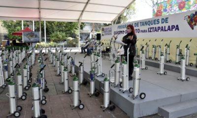 Inicia préstamo gratuito de tanques de oxígeno en Iztapalapa