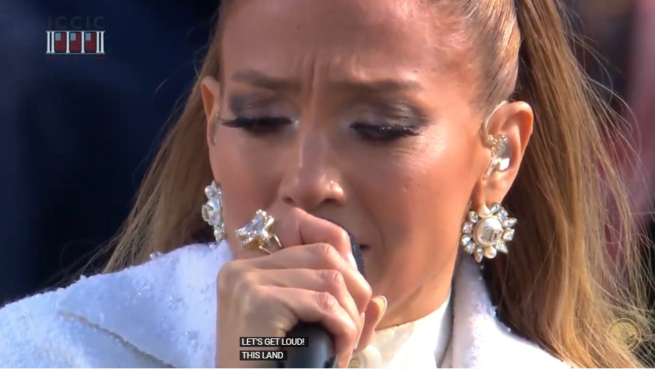 Jennifer Lopez en toma de posesión de Joe Biden