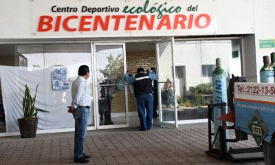 Vecinos de Neza evitan desmantelamiento de hospital provisional
