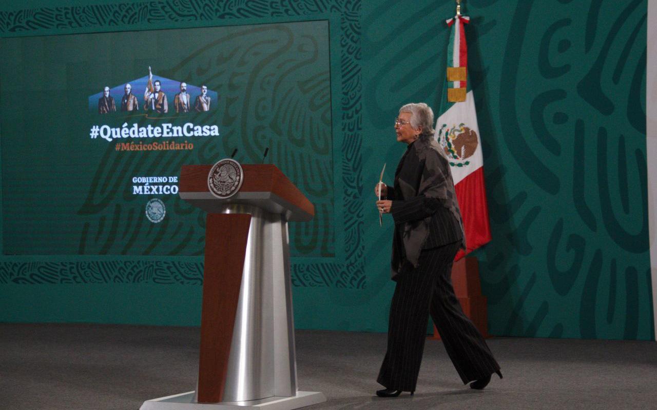El presidente está fuerte y mantiene aislamiento en Palacio Nacional: Segob