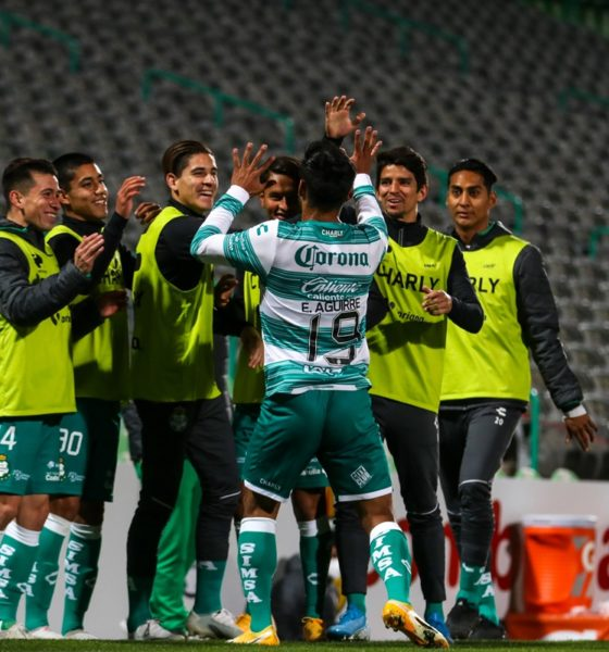 Santos Laguna le pegó a Tigres. Foto: Twitter Santos Laguna