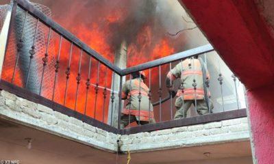 Sofocan incendio en fábrica de colchones en Ecatepec
