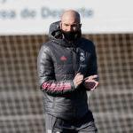 Zidane, avec Covid-19.  Photo: Twitter du Real Madrid
