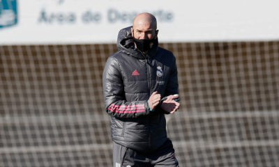 Zidane, con Covid-19. Foto: Twitter Real Madrid
