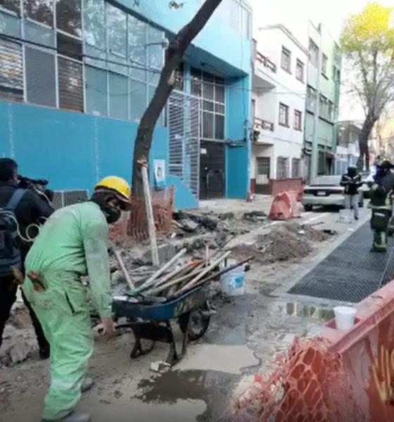 Atienden fuga de gas en alcaldía Cuauhtémoc