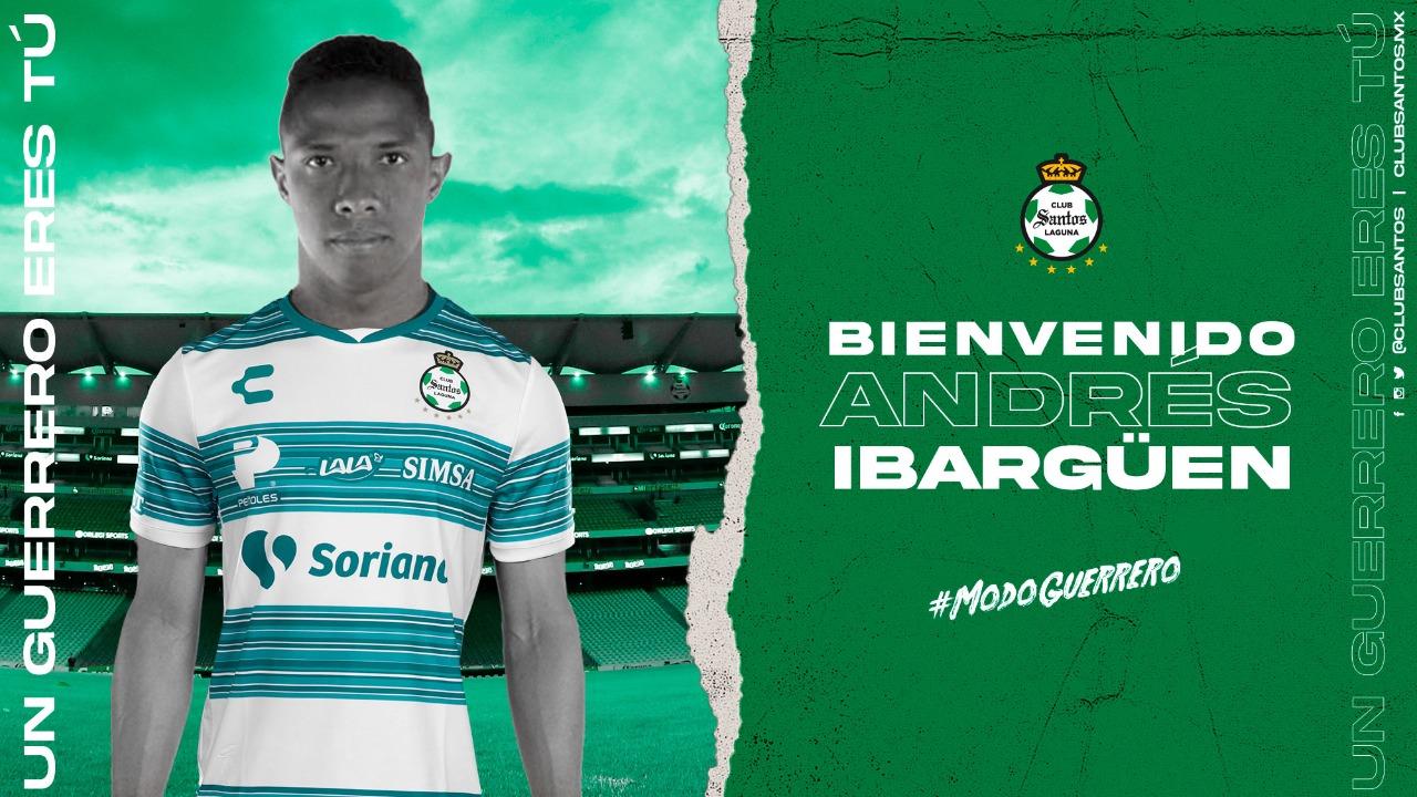 Andrés Ibargüen llega a Santos Laguna. Foto: Twitter Santos Laguna