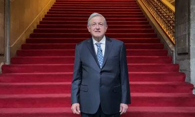 Andrés Manuel López obrador en Palacio Nacional. Foto: Twitter