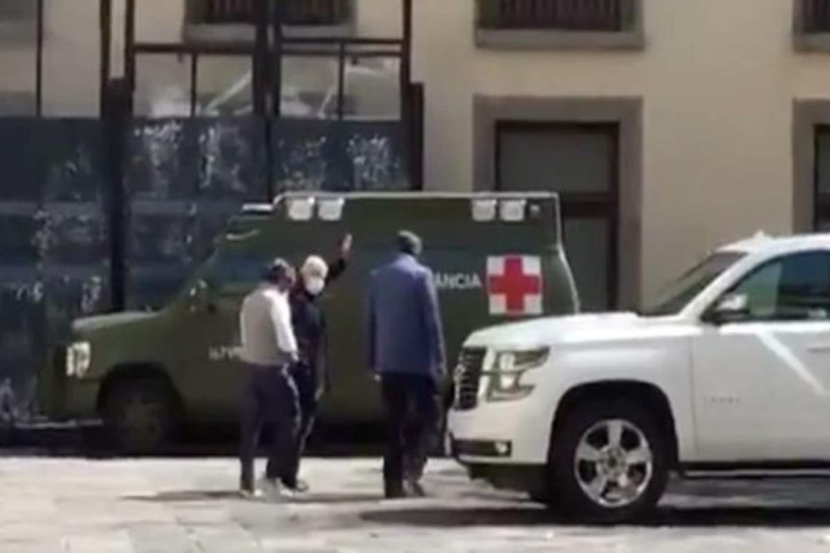 Reaparece López Obrador en Palacio Nacional