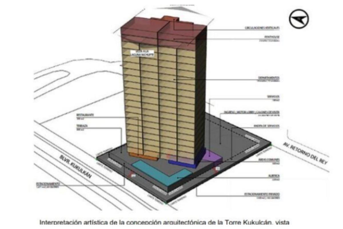 Rechaza Semarnat construcción de Torre Kukulkán en Cancún