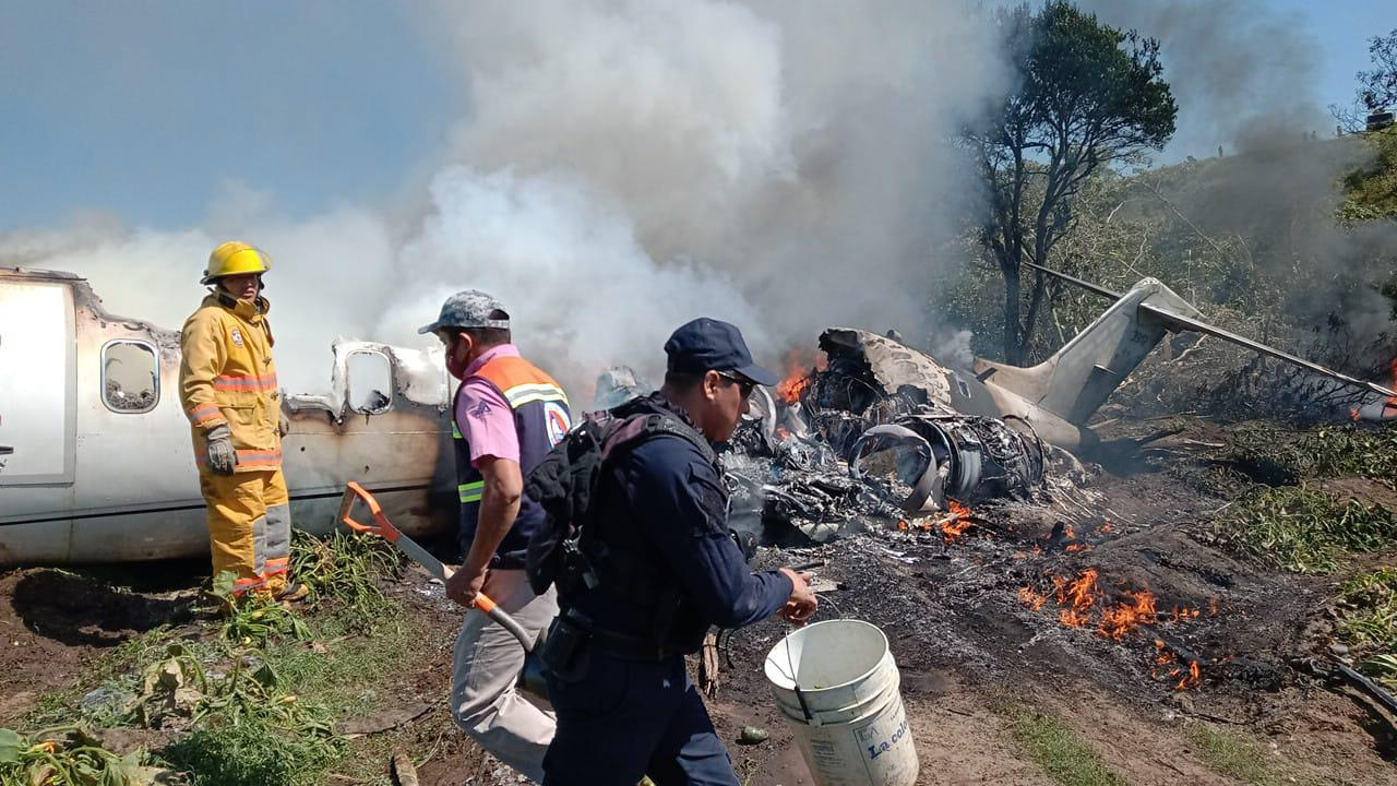 Se cayó aeronave de la Fuerza Aérea Mexicana. Foto: Israel Lorezana