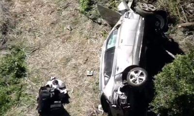 Tiger Woods sufre grave accidente. Foto: Especial