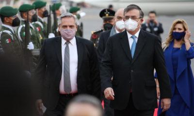 Llega a México Presidente de Argentina Alberto Fernández