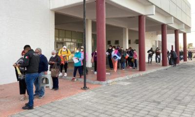 Sin tumultos, inicia aplicación de segunda dosis de vacuna en Ecatepec