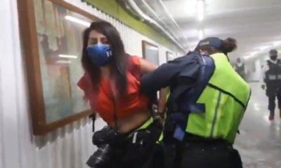 Destituye Sheinmbaum a policías por abuso en marcha de mujeres