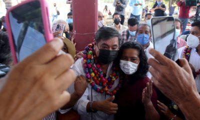 Inició Salgado Macedonio campaña en Guerrero. Foto: Cuartoscuro