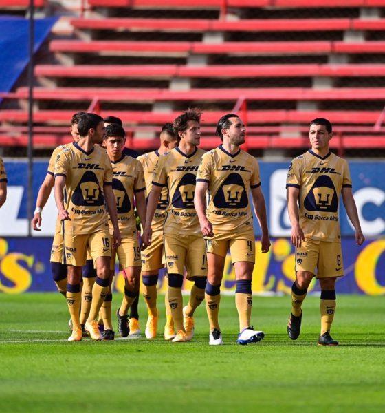 Victoria de Pumas ante San Luis. Foto: Twitter Pumas