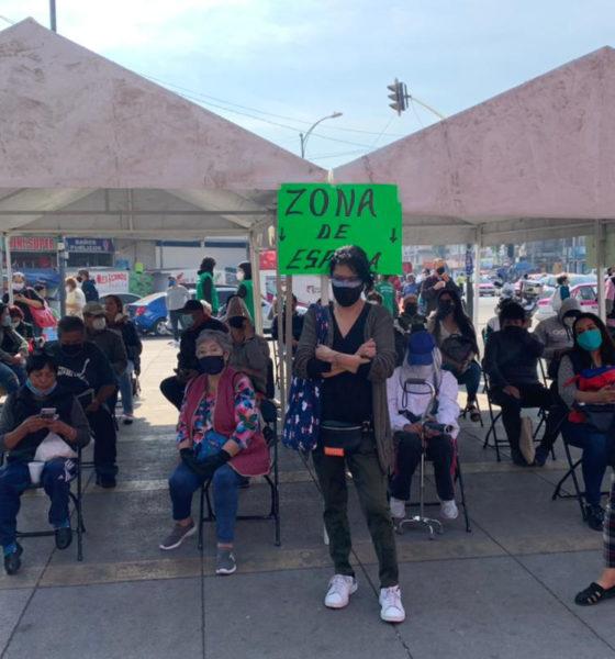 Llegan adultos de alcaldía Miguel Hidalgo para ser vacunados
