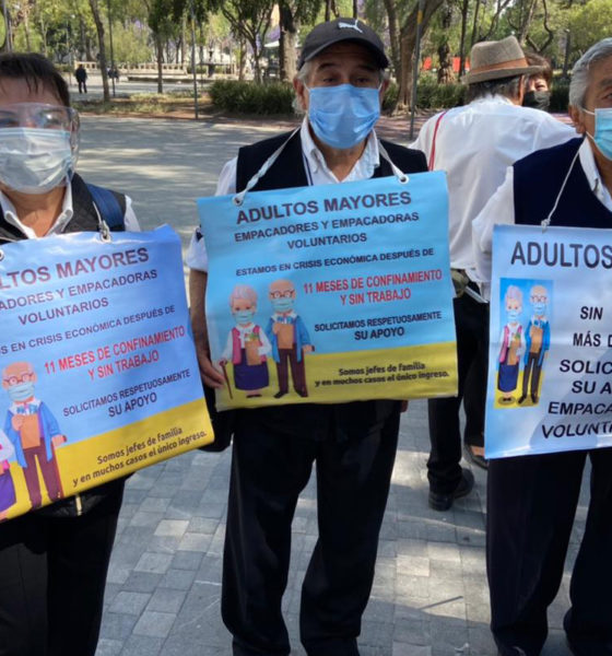 Abuelitos empacadores piden regresar a sus trabajos