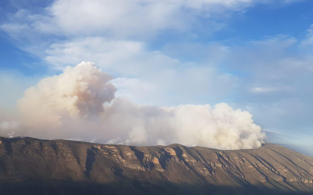 Implementan operativo de rescate por incendio forestal en NL