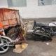 Roban coladera a bordo de un mototaxi