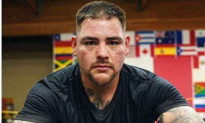 Andy Ruiz presume sus 25 kilos menos. Foto: Twitter
