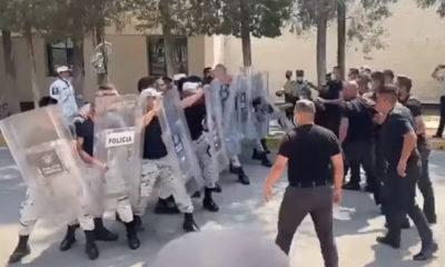 Entrenamiento de Guardia Nacional acaba en pelea