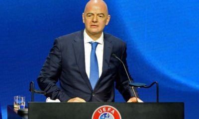 Infantino amenaza a los creadores de la SUperliga. Foto: Twitter UEFA