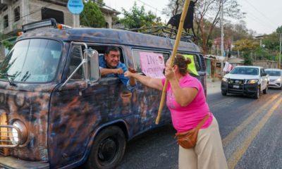 Inicia protesta de Salgado Macedonio. Foto: Facebook