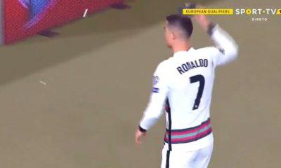 Molestia de Cristiano Ronaldo. Foto: Captura de Pantalla