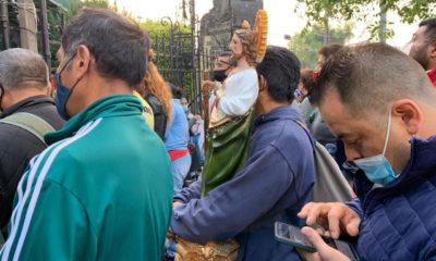 Fieles de San Judas llegan a Iglesia de San Hipólito
