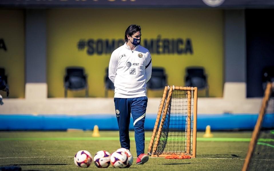 Santiago Solari con América, Foto: Twitter