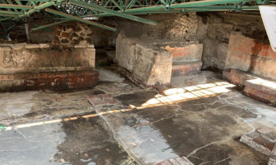 Restauran estructuras prehispánicas del Templo Mayor