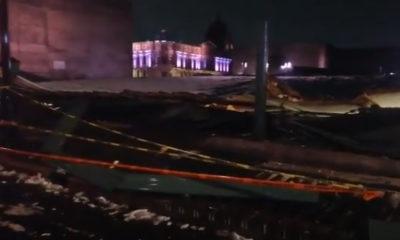 Por granizada colapsa techumbre del Templo Mayor