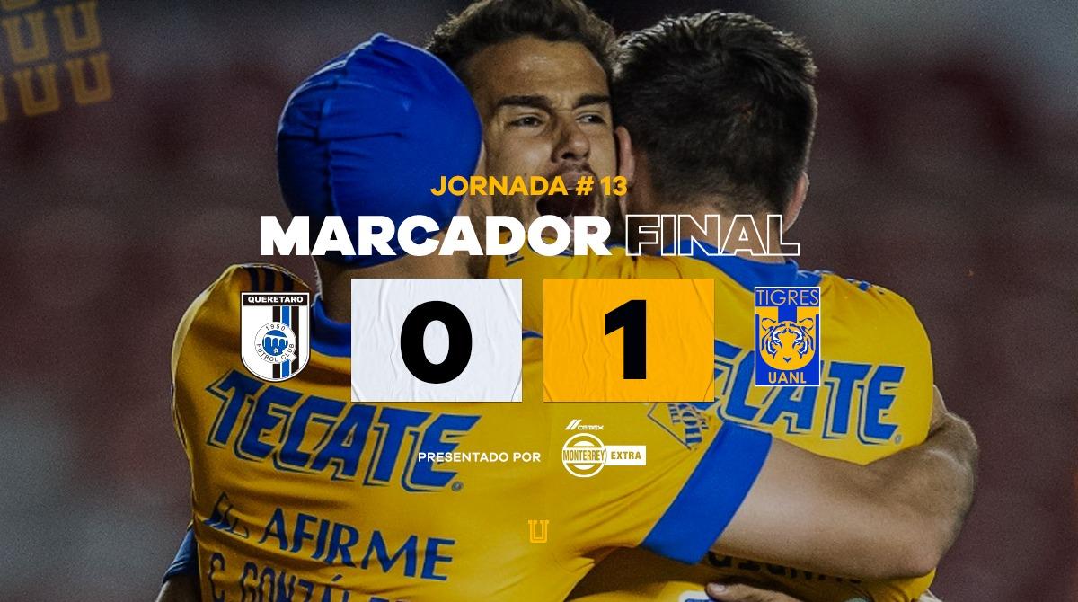 Tigres dio cuenta de Querétaro. Foto: Twitter Tigres