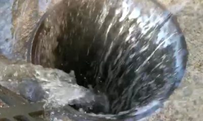 Fuga de Agua en Polanco. Foto: Israel Lorenzana