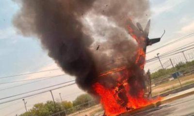 Se desploma helicóptero en Apodaca, Nuevo León