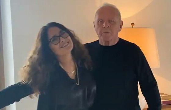 Anthony Hopkins y Salma hayek