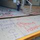 Feministas pintan fachada del Tribunal Electoral