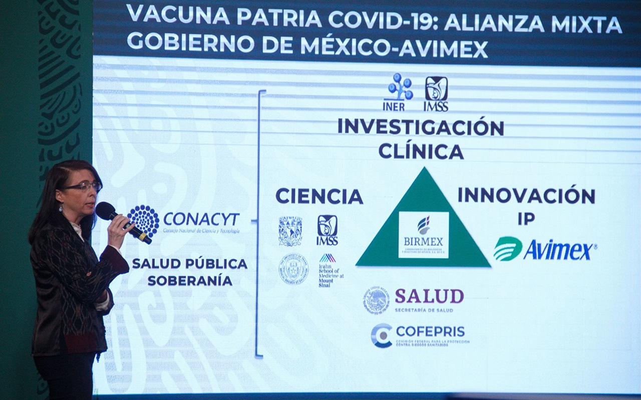 """Vacuna mexicana """"Patria"""" podría estar lista en noviembre"""