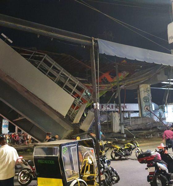 Accidente Línea 12 del Metro deportistas. Foto: Israel Lorenzana