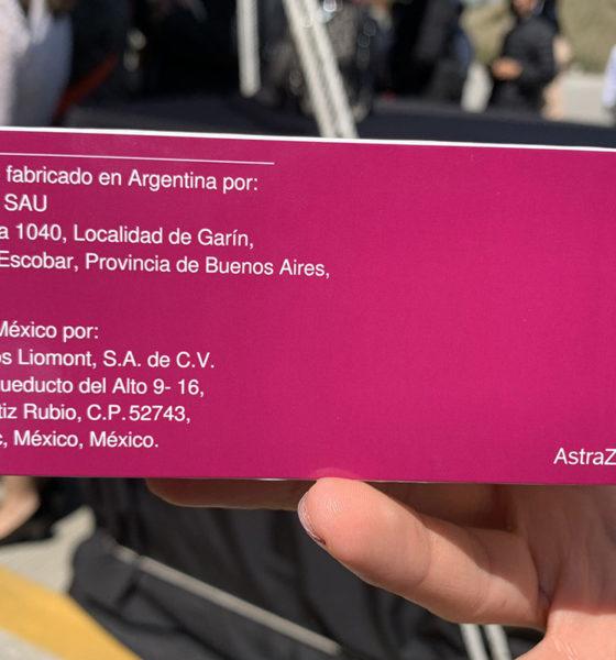 Listo primer lote de vacunas AstraZeneca envasadas en México