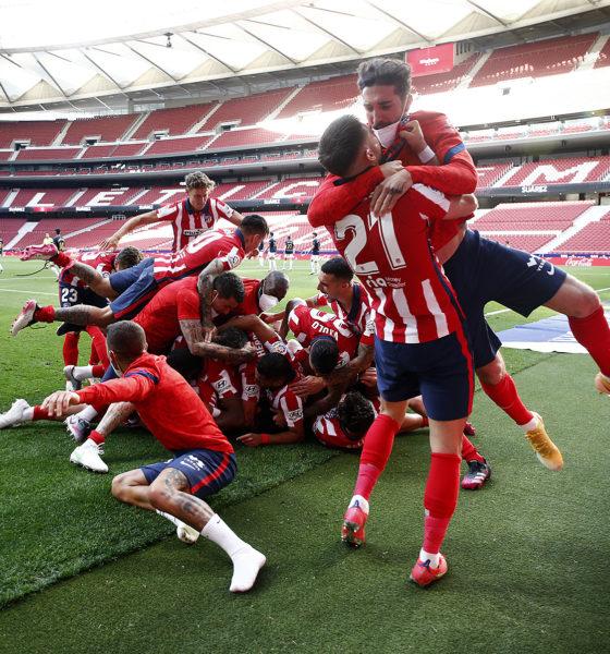 Atlético de Madrid a un paso del título. Foto: Twitter